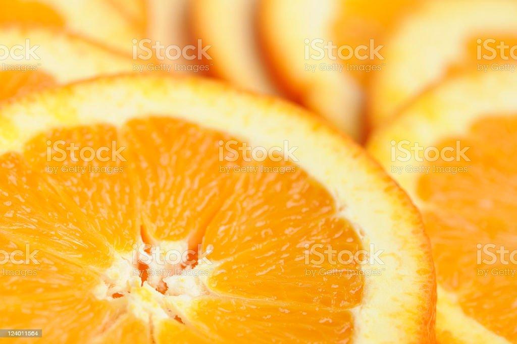 Close-Up of Fresh and Refreshing Juicy Organic Orange Slices stock photo