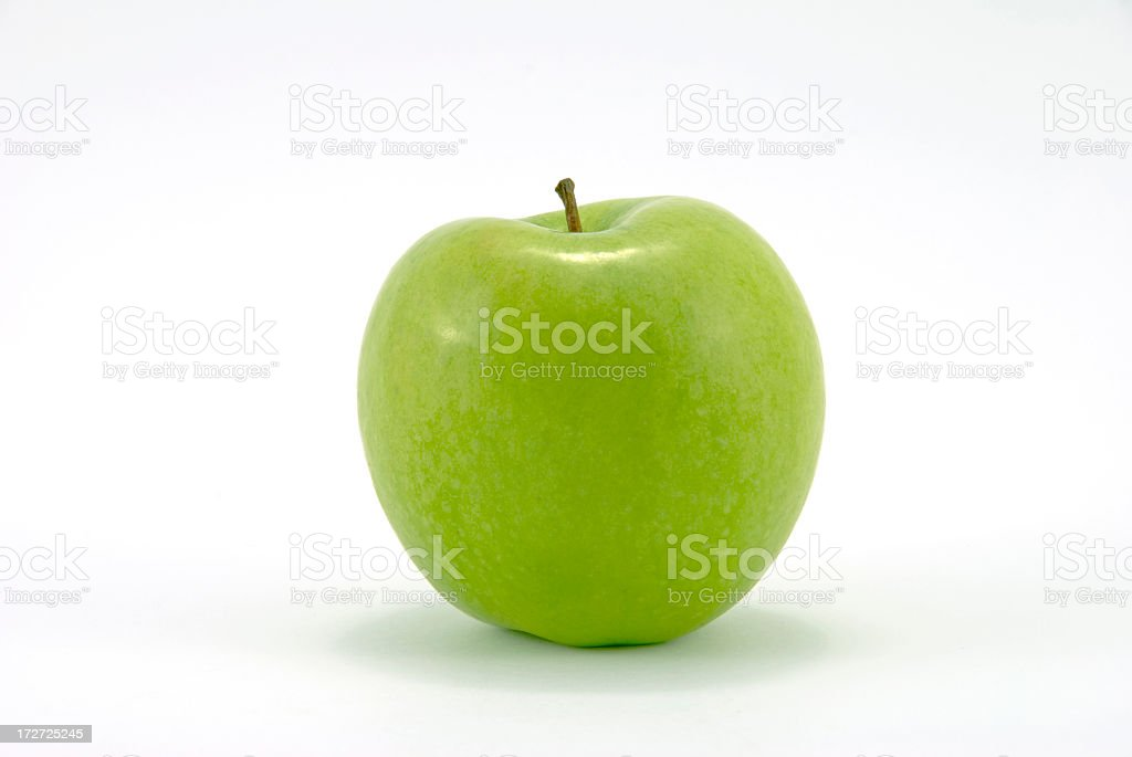 Close-up of fresh Granny Smith apple royalty-free stock photo