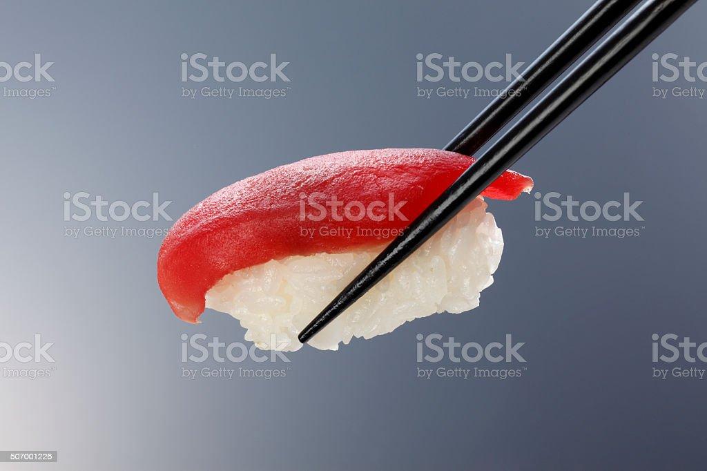 Closeup of fresh sushi/tuna stock photo