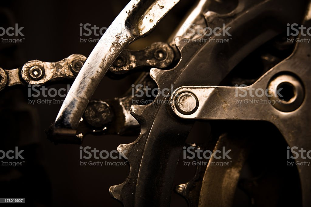Closeup of Front Derailleur royalty-free stock photo