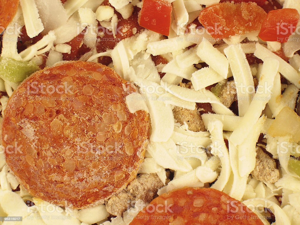 Close-Up of Frozen Pizza royalty-free stock photo
