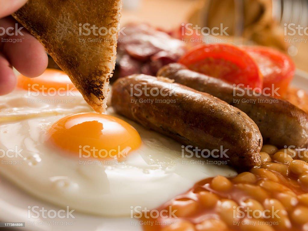 Close-up of full English breakfast stock photo