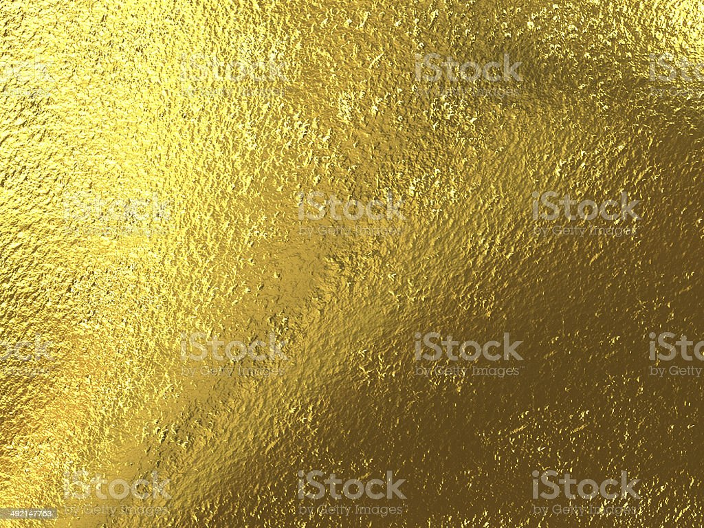 Close-up of gold-leaf foil background stock photo