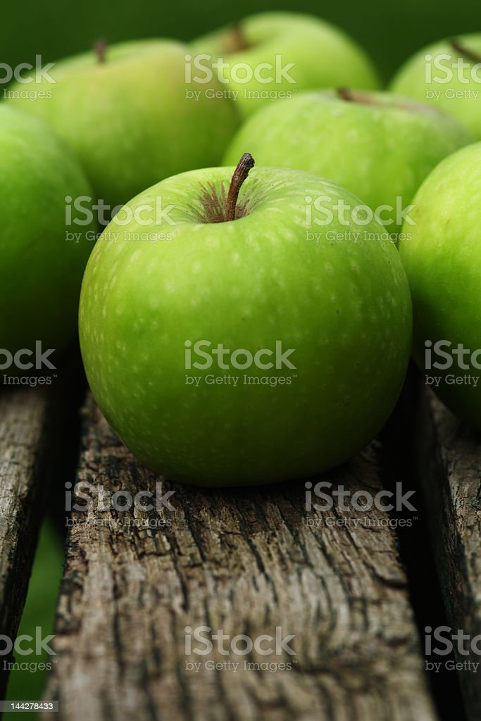Close-up of Granny Smith apples royalty-free stock photo