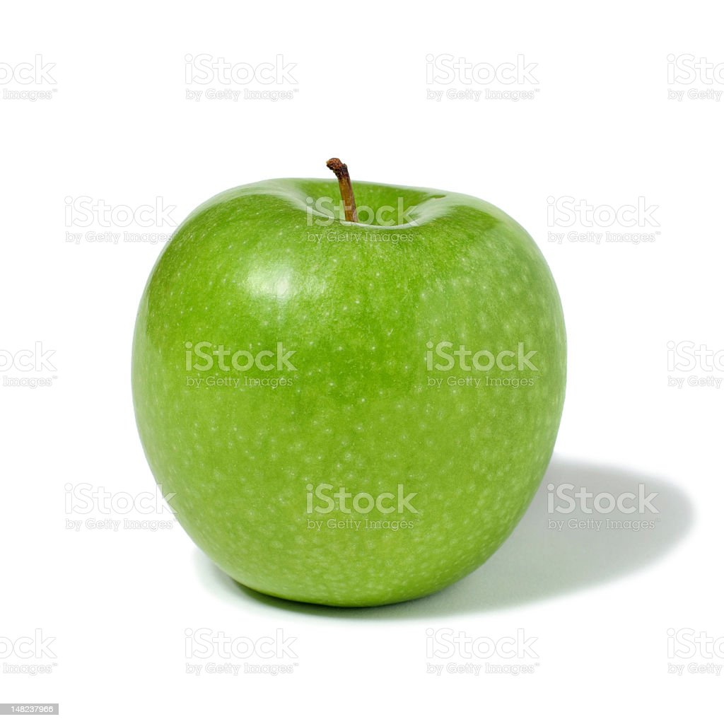 Close-up Of Green Apple Isolated On White stock photo