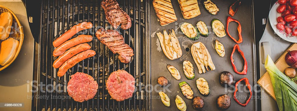 Close-up of grilled food stock photo