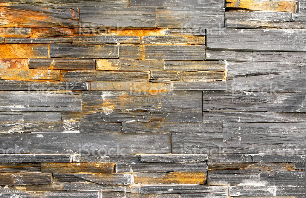 Closeup of grunge granite stone wall background. vector art illustration