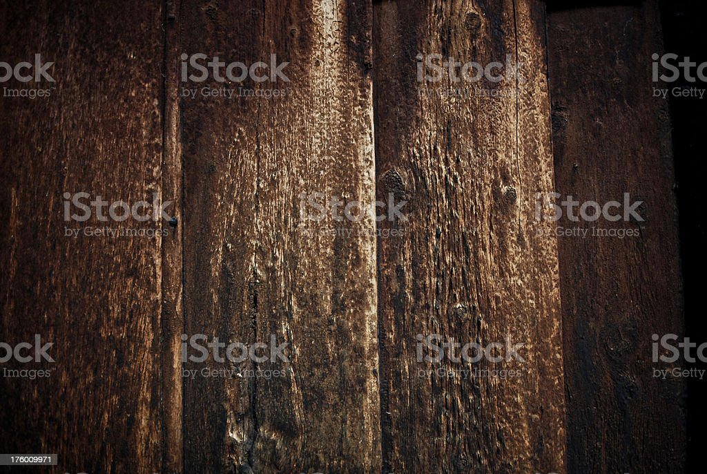 Close-up of grungy old wooden planks royalty-free stock photo