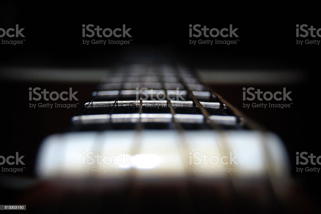 Close-Up of Guitar stock photo