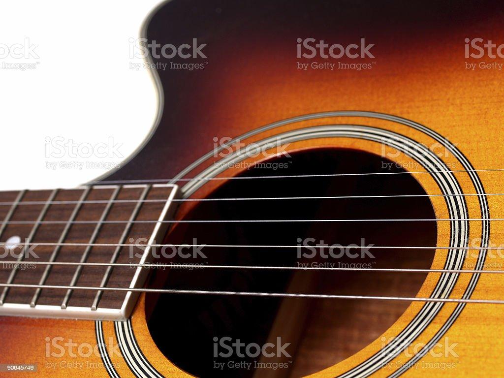 Closeup of Guitar stock photo