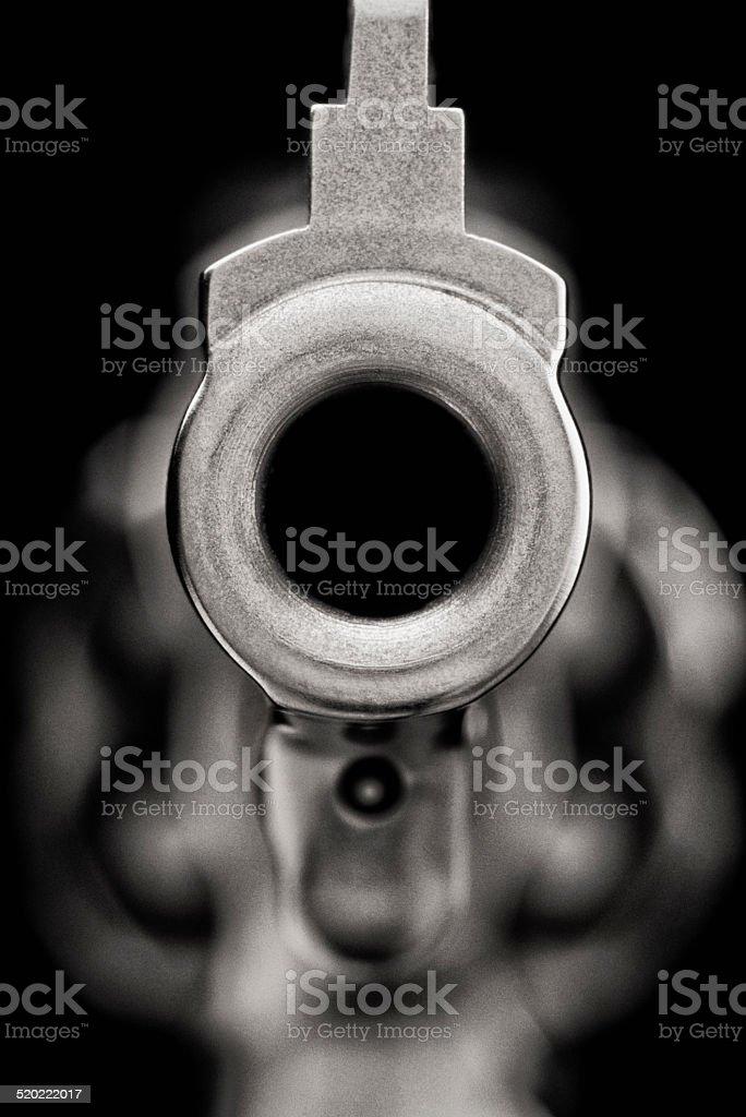 Close-up of Gun Barrel stock photo