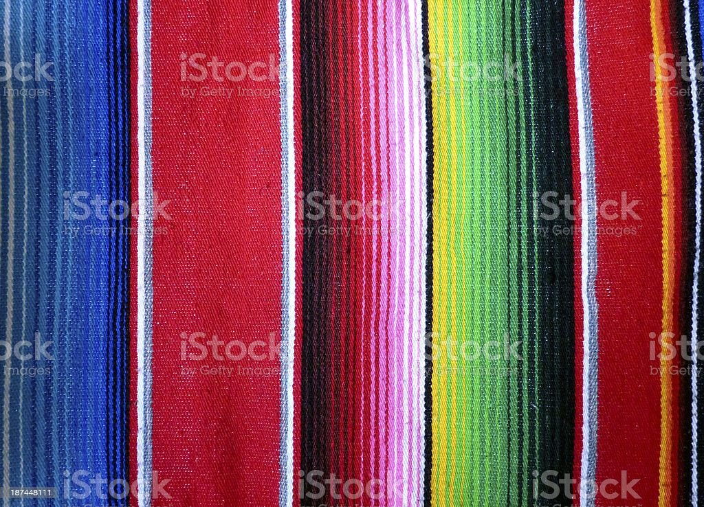 Close-up of hand woven poncho background stock photo