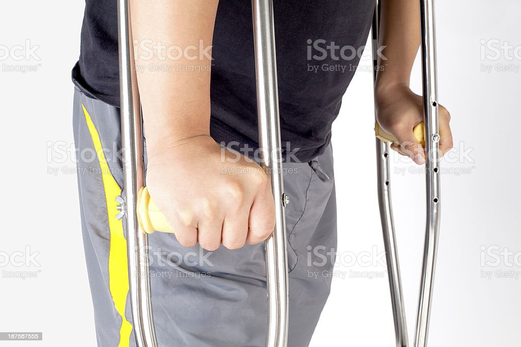 Close-up of Handicapped Man royalty-free stock photo