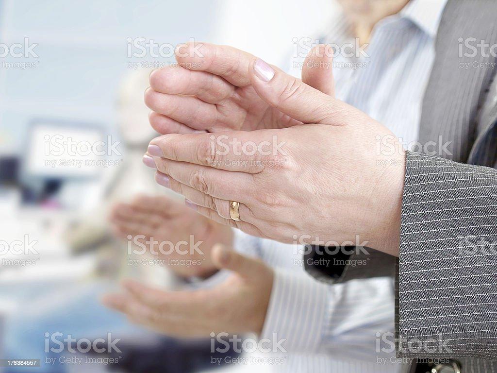 Closeup of  Hands Applauding royalty-free stock photo