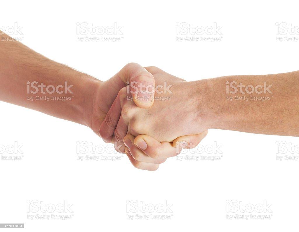 Close-up Of Handshake royalty-free stock photo