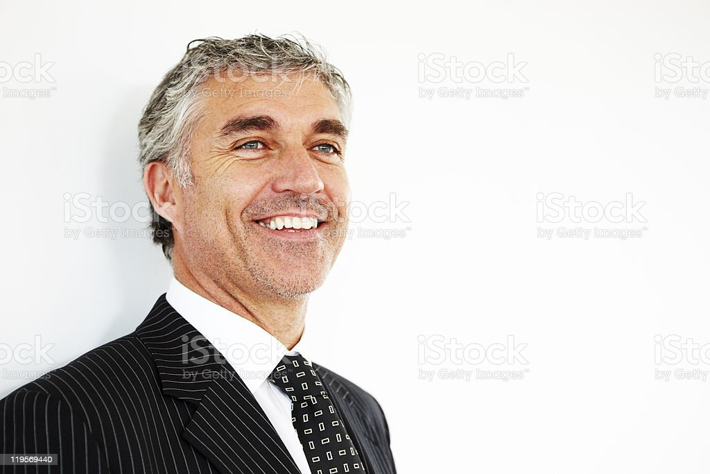 closeup of handsome mature businessman royalty-free stock photo
