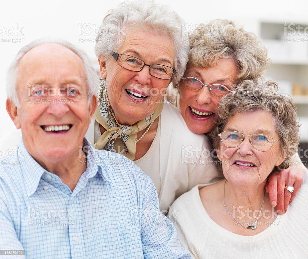 Close-up of happy senior adults royalty-free stock photo