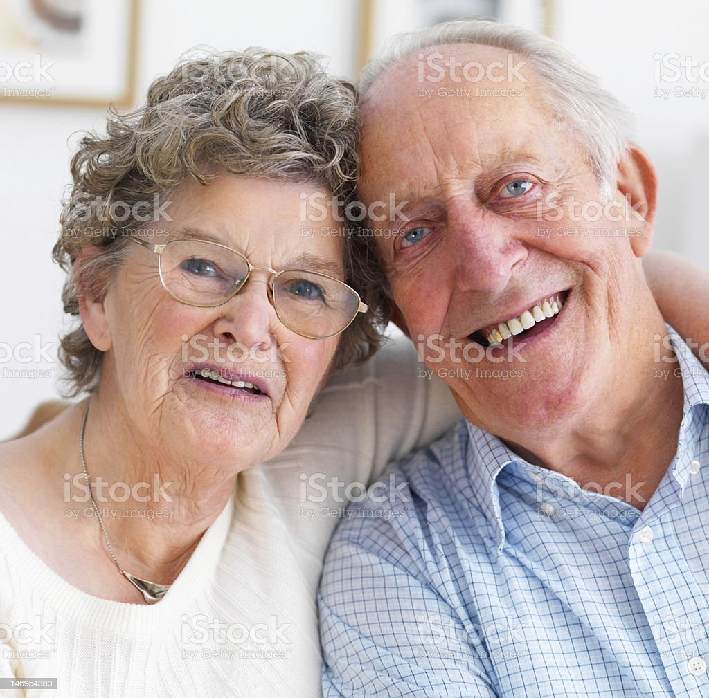 Close-up of happy senior couple royalty-free stock photo