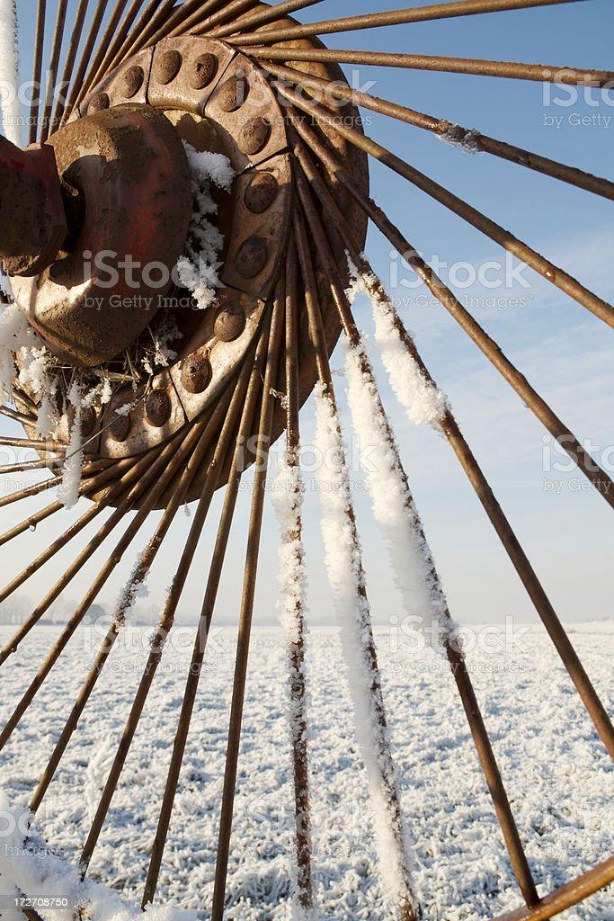 Close-up of hay rake. royalty-free stock photo