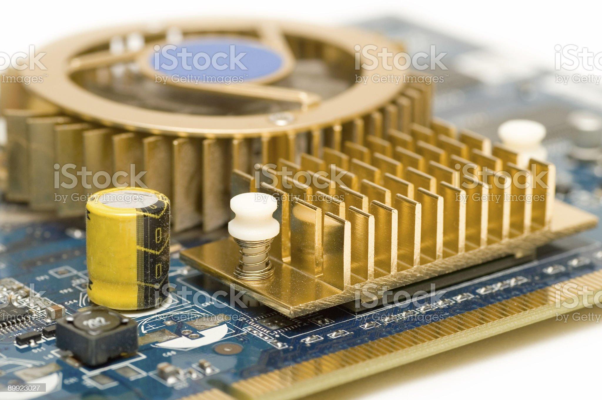 Close-up Of Heatsink royalty-free stock photo