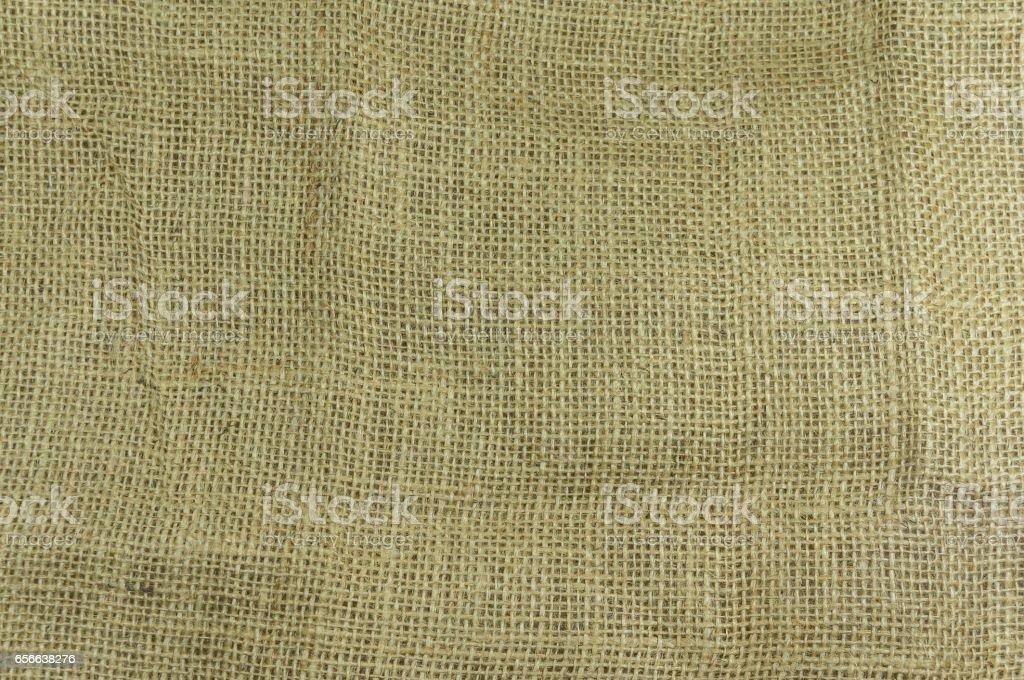 Closeup of Hemp fabric texture background selective focus stock photo