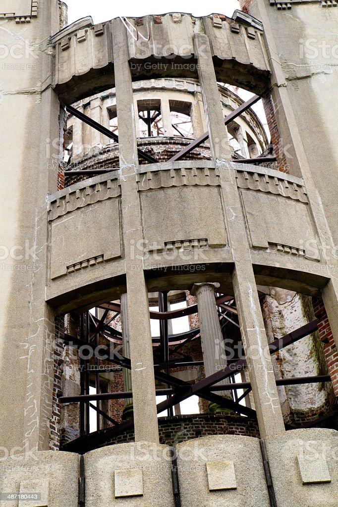Close-up of Hiroshima ruins royalty-free stock photo