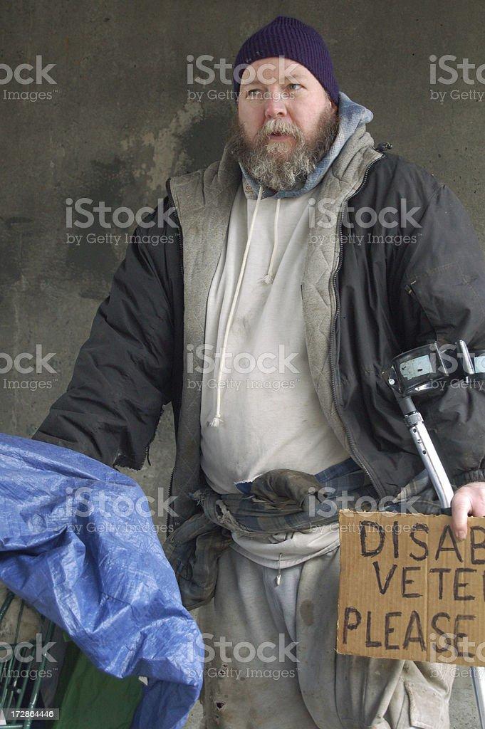 Closeup of Homelessman royalty-free stock photo