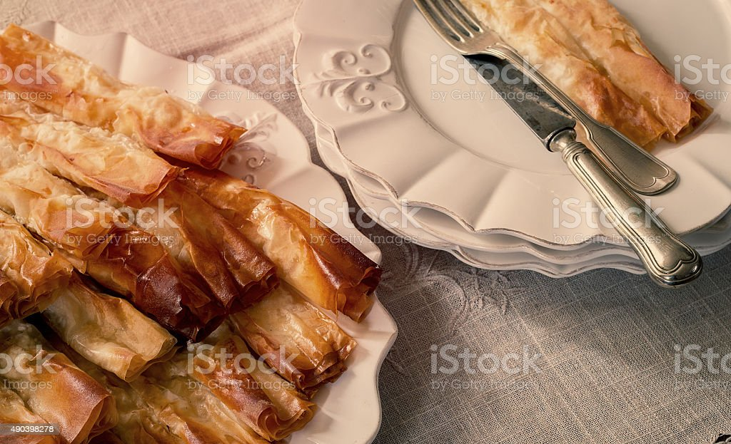 Closeup of homemade pastry, food background stock photo