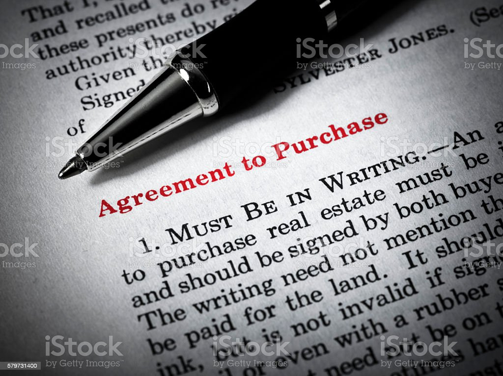 Close-up of house deeds and pen stock photo