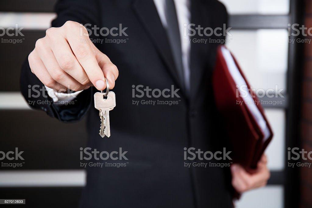 Close-up of house keys stock photo