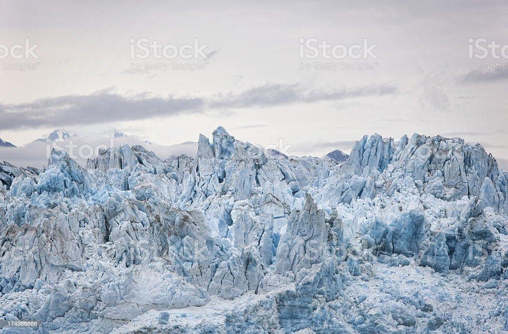 Close-up of Hubbard Glacier Ice stock photo