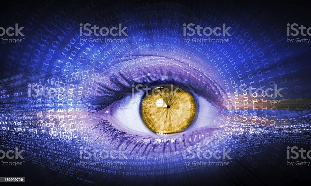 Close-up of human eye royalty-free stock photo
