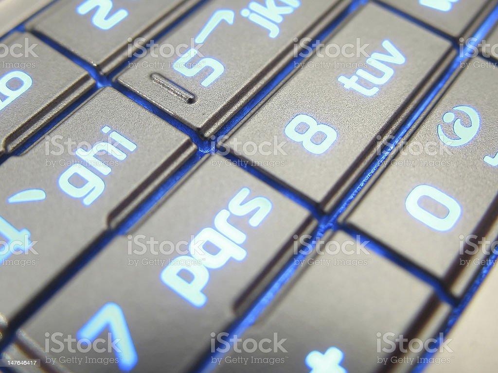 Close-up of illuminated Keypad royalty-free stock photo