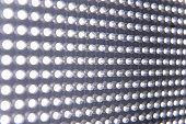 Close-up of illuminated stretch of LED lights