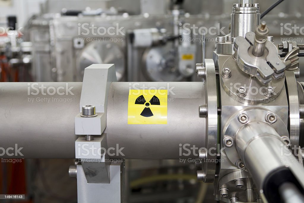 Closeup of important electronic and mechanical parts in ION Accelerator stock photo