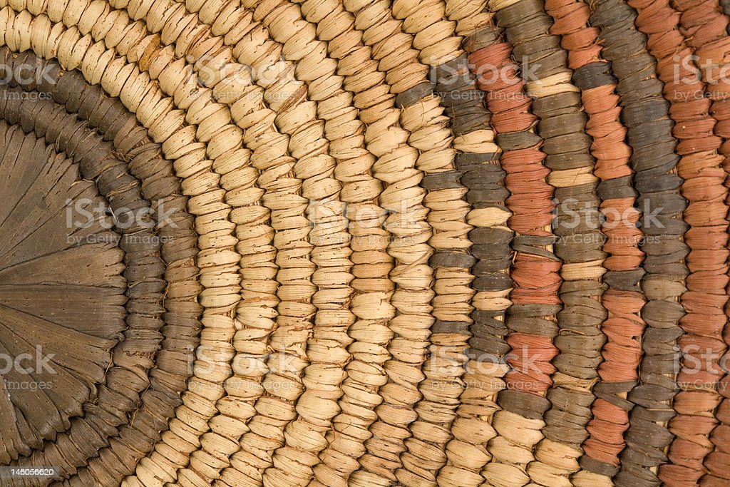 Closeup of Indian Basket stock photo