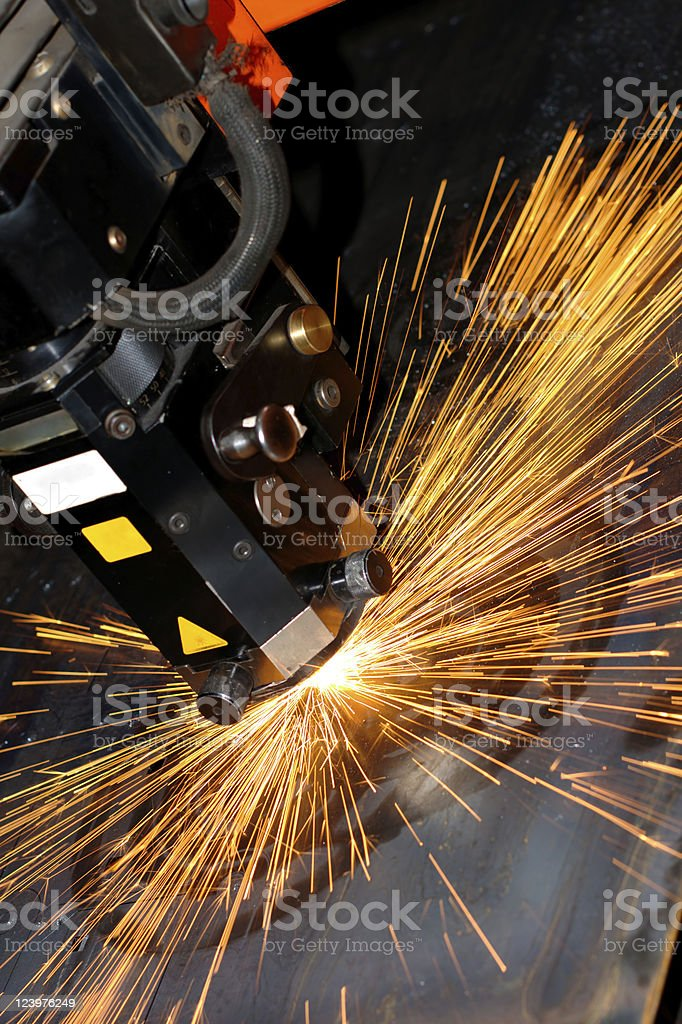 Close-up of industrial laser grinder royalty-free stock photo