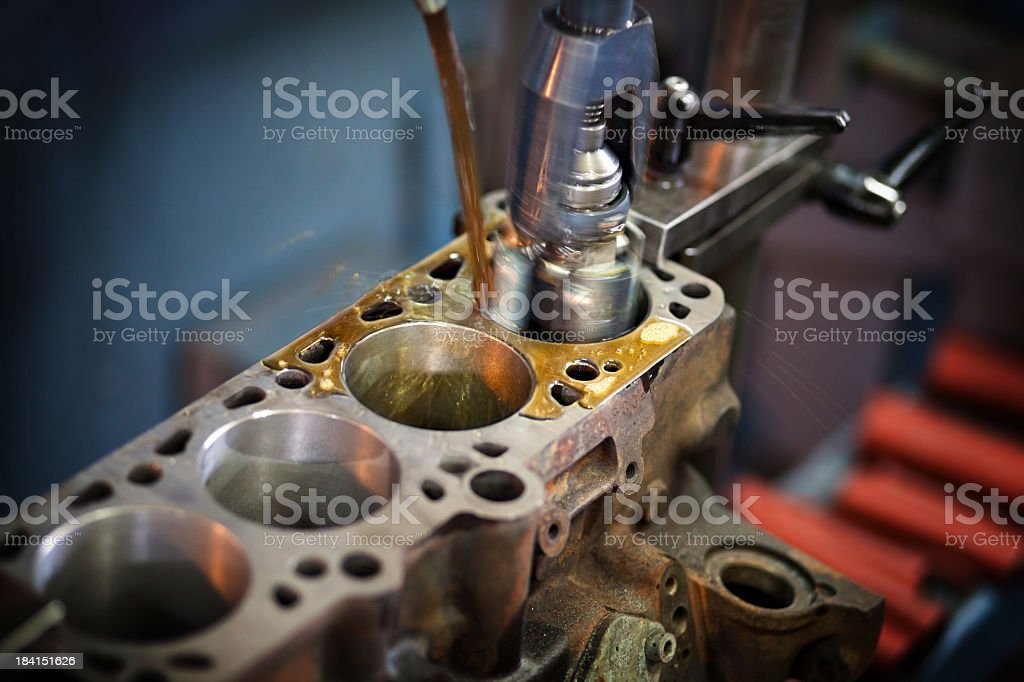 Close-up of industrial machines royalty-free stock photo