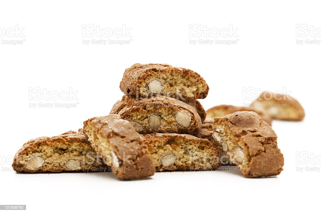 Close-up of Italian cookies on a white surface royalty-free stock photo