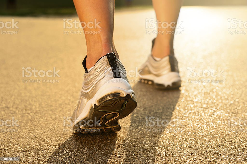 Closeup Of Joggers Leg royalty-free stock photo
