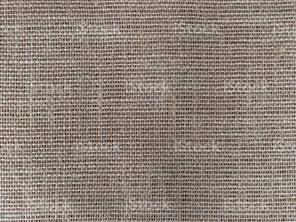 Close-up of jute fabric texture royalty-free stock photo