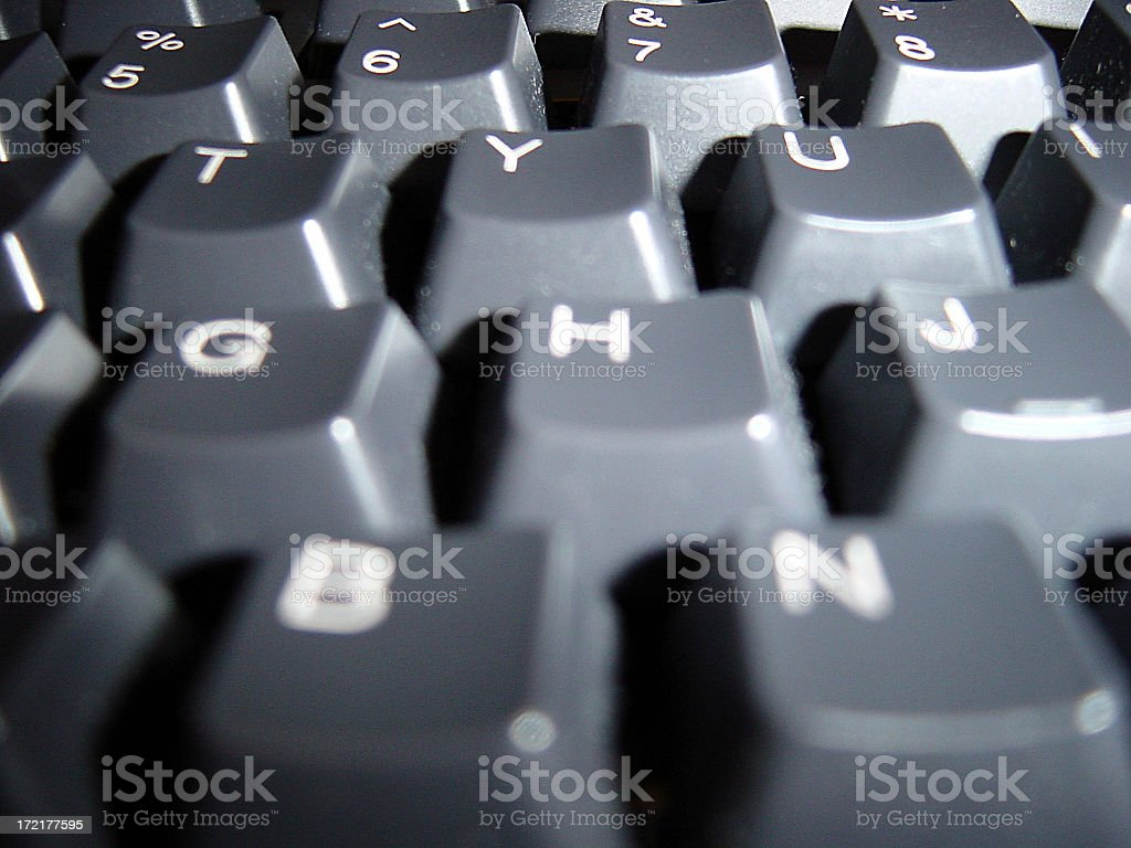 Close-Up of Keyboard royalty-free stock photo