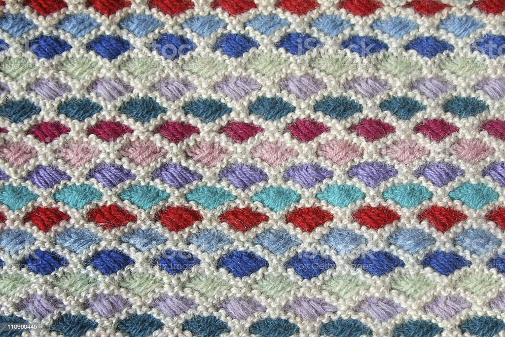 Close-up of knitted wool texture. royalty-free stock photo