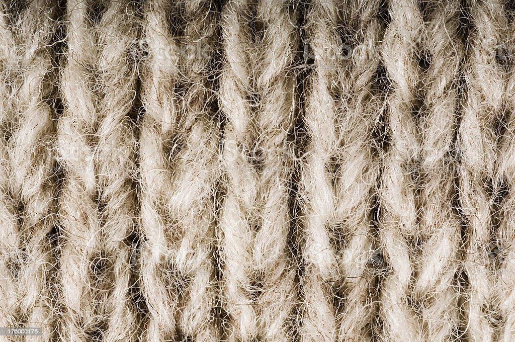 Close-up of knitted wool texture stock photo