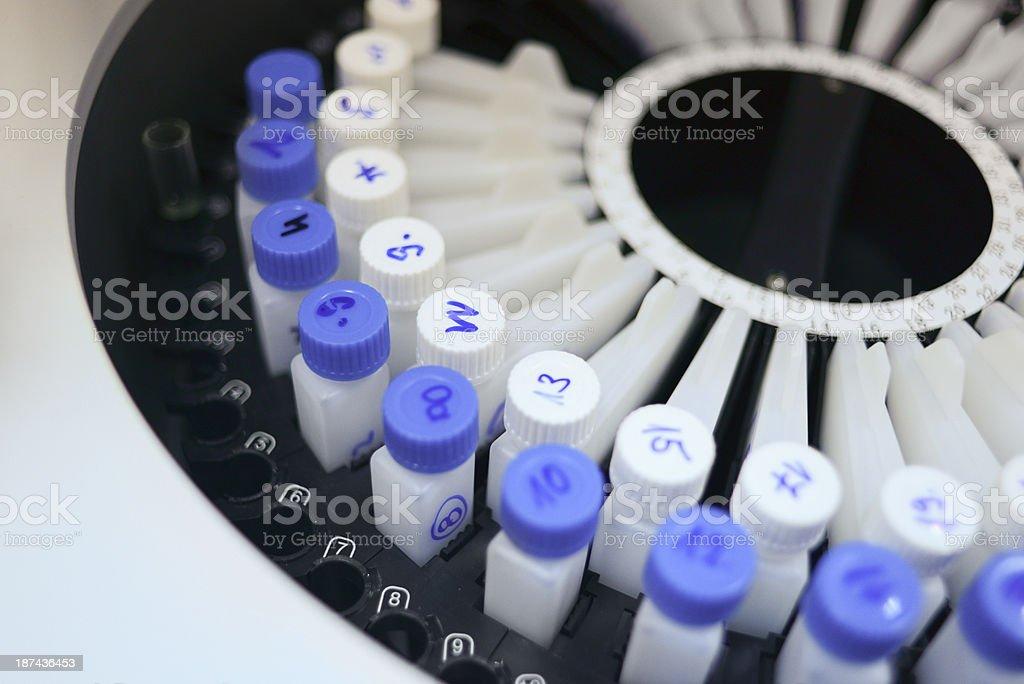 A closeup of laboratory equiptment stock photo