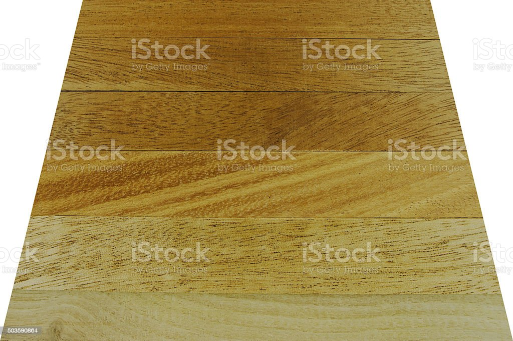 Close-up of laminated wood table with clipping path stock photo
