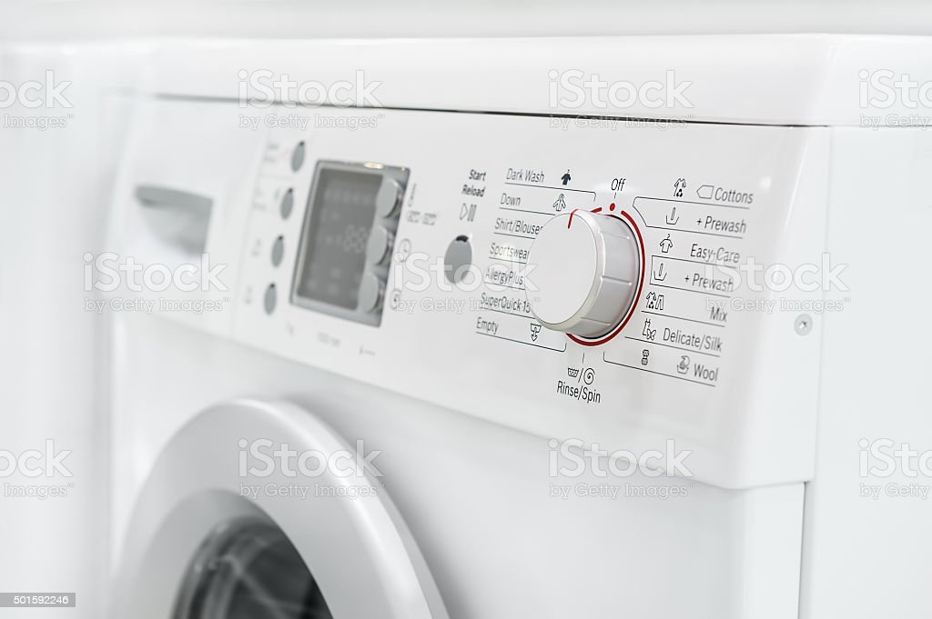 closeup of laundry or washing machine stock photo