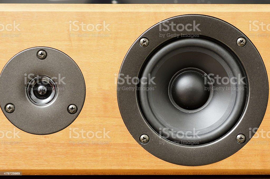 Closeup of loudspeaker stock photo