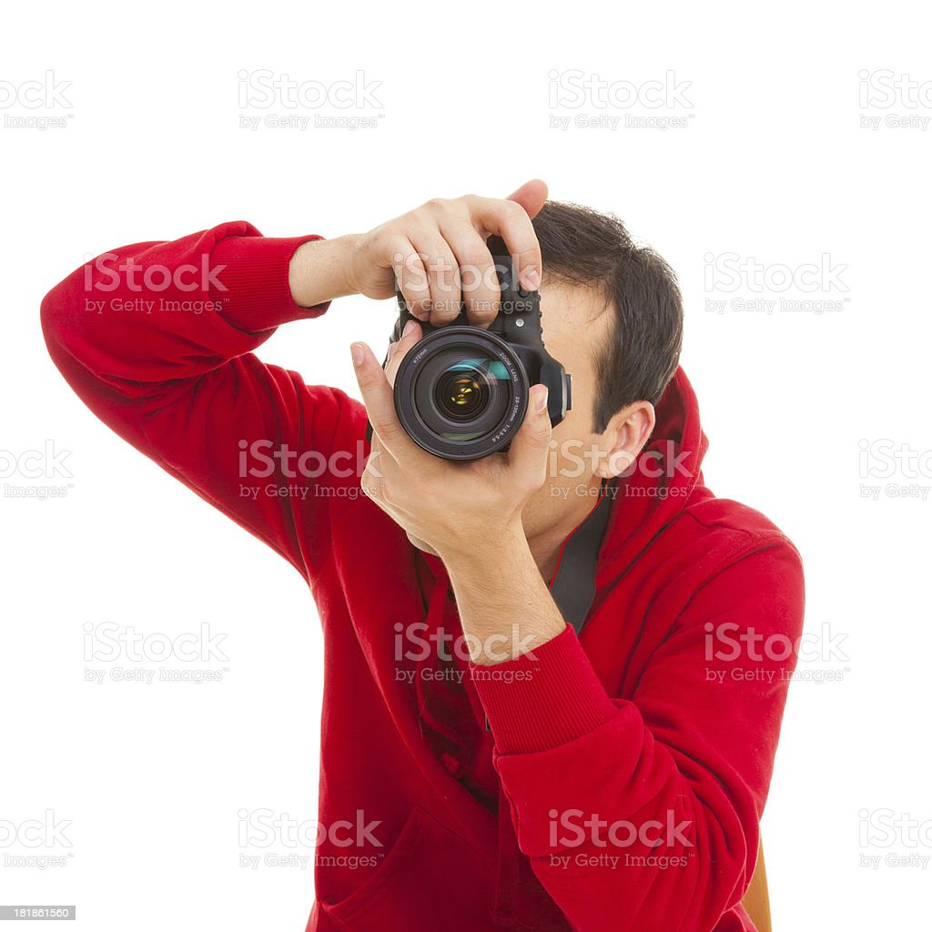 Closeup of male photographer royalty-free stock photo