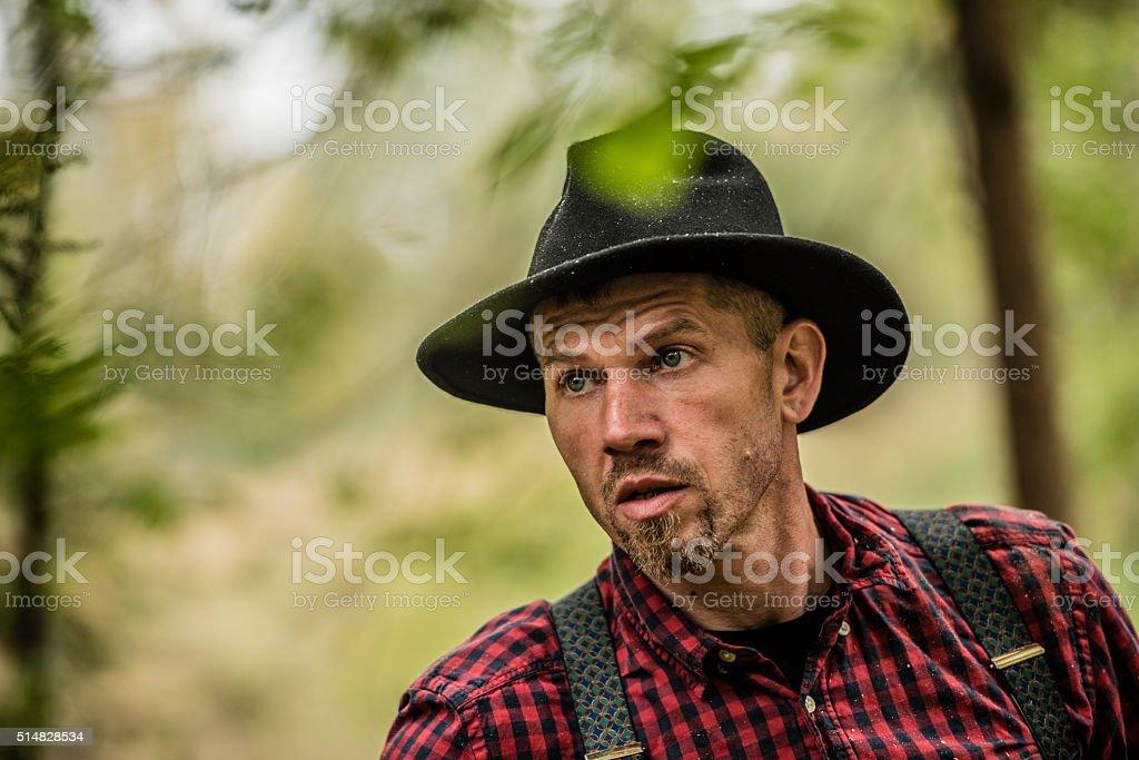 Close-up of man stock photo